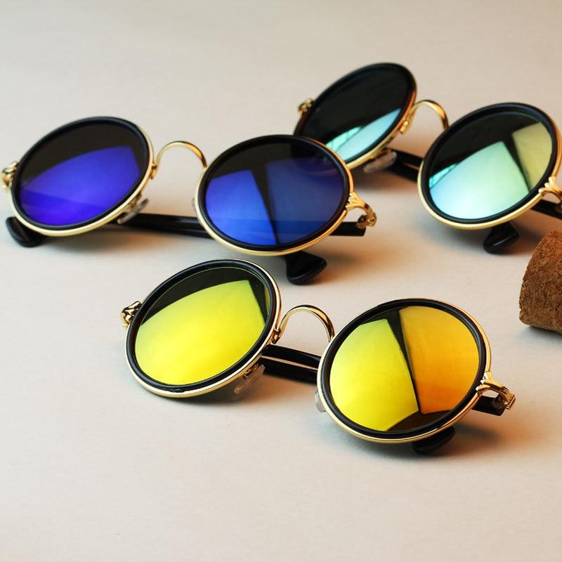 Fabuleux 3 couleurs UV400 Harajuku rétro lunettes rondes Vintage lunettes  OW19