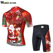 Merry Christmas Shirt Cycling Jersey WEIMOSTAR Men cycling clothing maillot  ciclismo MTB Jersey roupas ciclismo gel pad shorts 839f35782