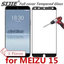 2 шт полное покрытие из закаленного стекла для MEIZU 15 MEIZU15, защитный экран для телефона, закаленное стекло, рамка, все края, чехлы, чехол