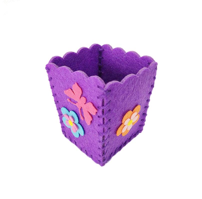 Baby Kids Educational Diy Craft Tangram Block Kit Cute Creative Handmade Pen Container Diy Pencil Holder Kids Craft Toy Kits #6