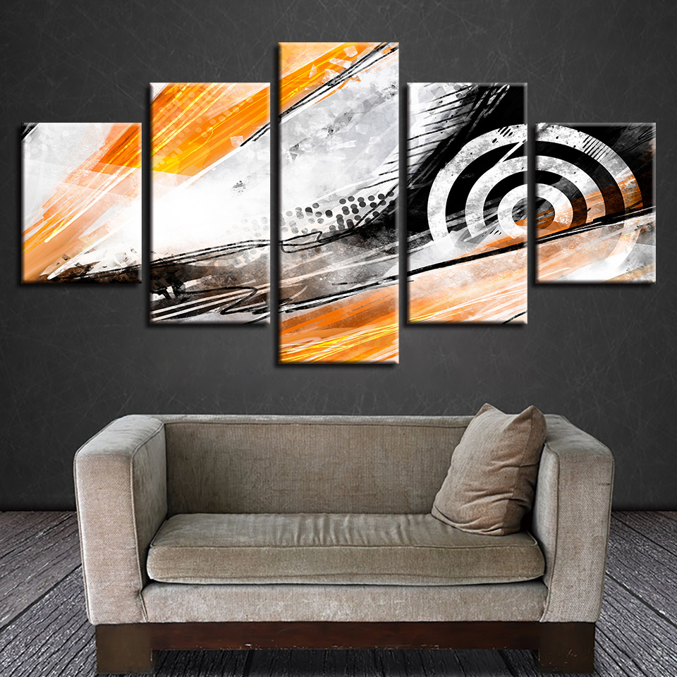 Modular Painting Wall Art Poster HD Printed Modern Canvas 5 Panel Target For Living Room Pictures Home Decoration Frame Cuadros ...