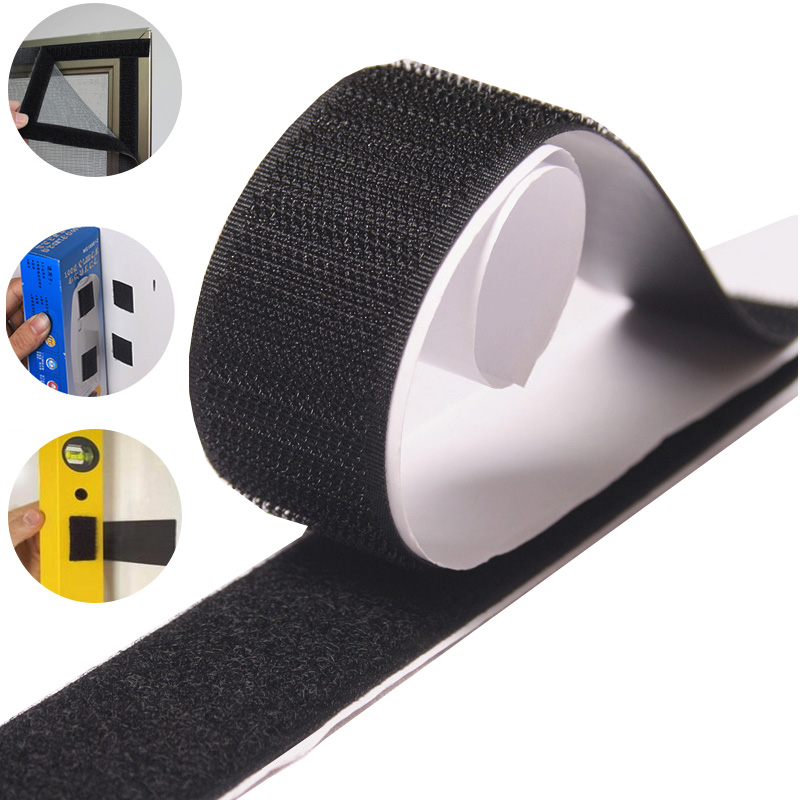 Double Sided Self Adhesive Fastener Tape Hook And Loop