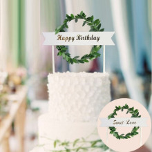 INS Style Cake Topper Happy birthday sweet love Wedding Decorations Birthday Cupcake party supplies