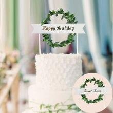 Лидер продаж в стиле ins милые украшения для свадебного торта