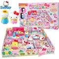 Olá Kitty Crianças Educacionais Brinquedos casa de Bonecas Em Miniatura De Plástico Casa Minha Casa Conto-casa de Móveis Para Casa Meninas Brinquedos Presente boneca