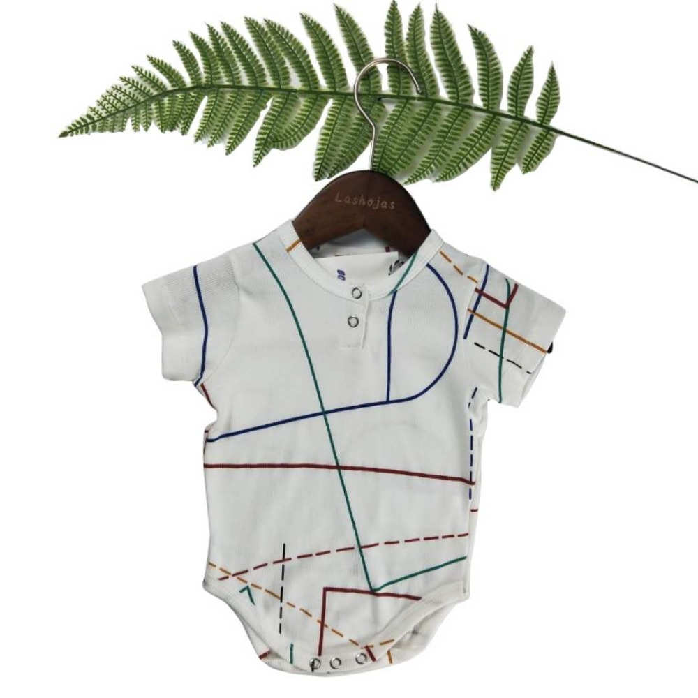 Lashojas geometric bodysuits for baby kids onesie