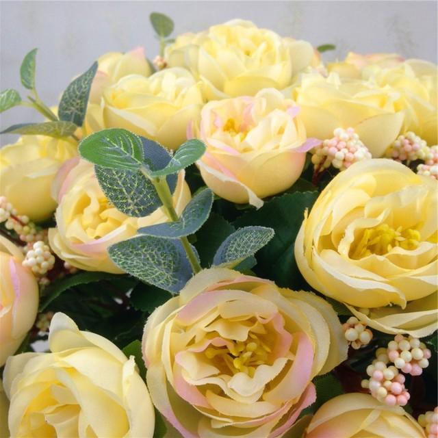 Home Party Decorative Flowers 10 pcs Rose Artificial Flowers Silk Flowers Floral Latex Real Touch Rose Wedding Bouquet Flower