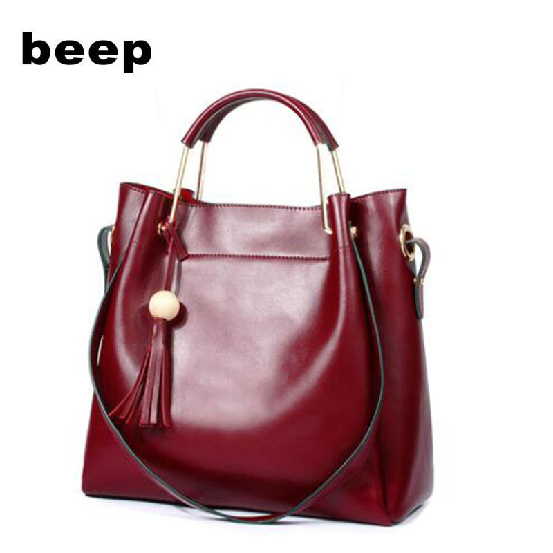 BEEP brand handbag 2018 new leather wild Messenger bag Simple handbag Shoulder bag women bag new women shoulder bag handbag 100