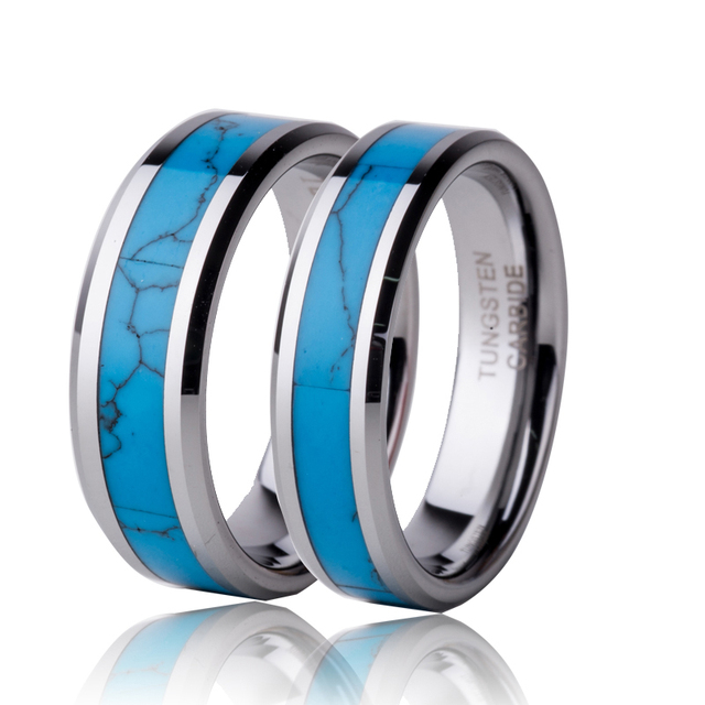 (2pcs/lot) 7mm/5mm Tungsten Ring For Men Women Jewelry Wedding Engagement Band Couple Rings WTU054RW