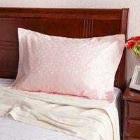 Pillowcase cotton jacquard satin pillow sham 48cmx74cm a pair