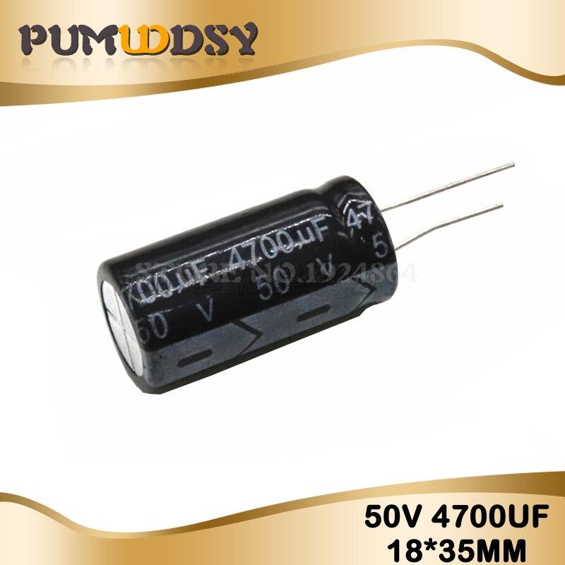 2PCS Higt Quality 50V4700UF 18*35mm 4700UF 50V 18*35 Electrolytic Capacitor