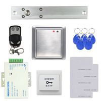 DIYSECUR Electric Bolt Lock Waterproof Remote Controller 125KHz Rfid ID Card Reader Without Keypad   Access     Control   System Kit