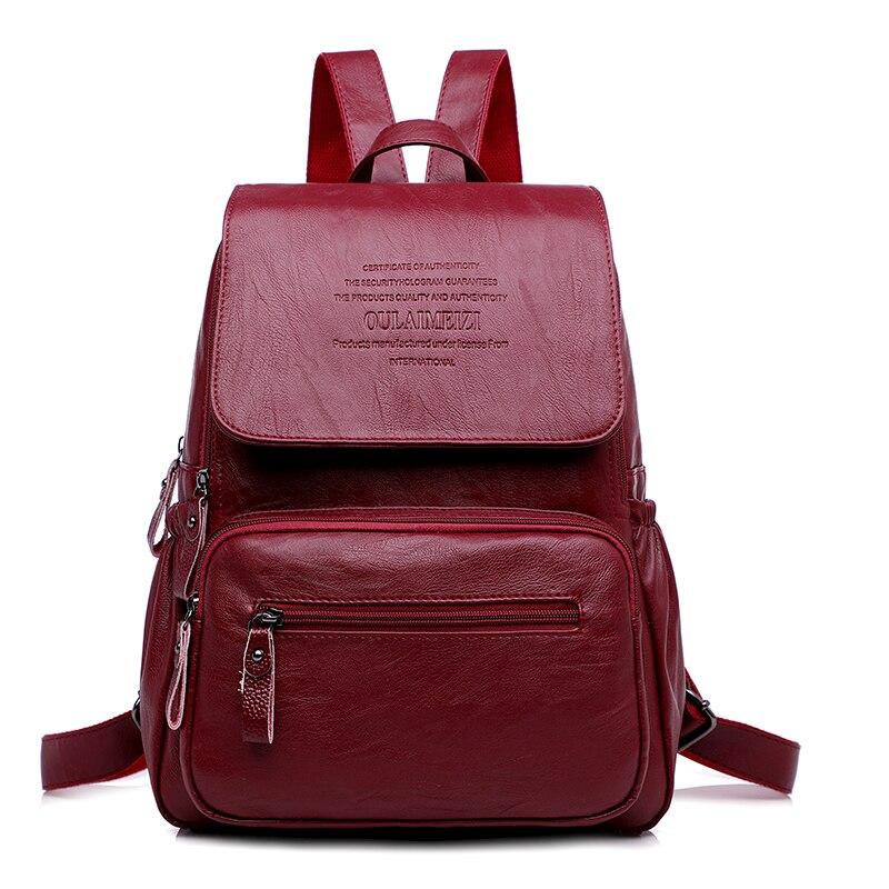 LANYIBAIGE 2018 Women Backpack Designer high quality Leather Women Bag Fashion School Ba ...