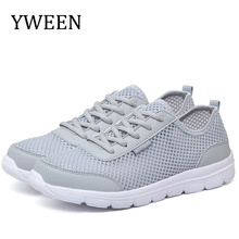 YWEEN Men Shoes Summer Sneakers Men Breathable Fashion Mesh Casual Shoes Couple Lovers Men&Women Mesh Shoes Big Plus Size Shoes men shoes 2017 lovers summer fashion breathable men casual shoes lace up high quality flat mesh shoes plus size 35 44