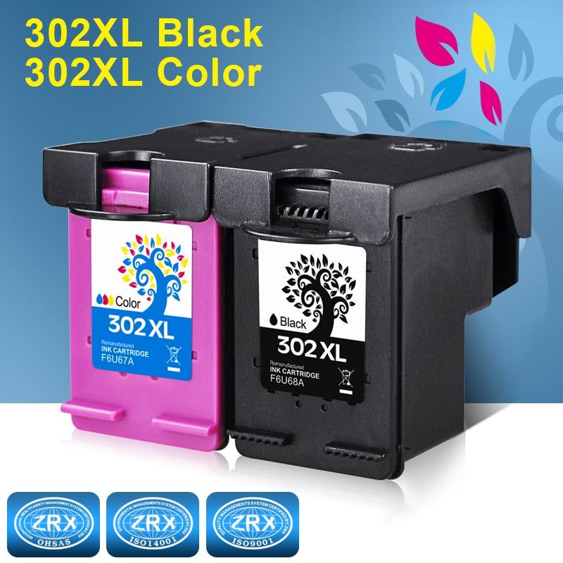 2pcs Ink Cartridge for HP 302XL HP302XL F6U68AE F6U67AE for HP Deskjet 1110 1115 2130 2135