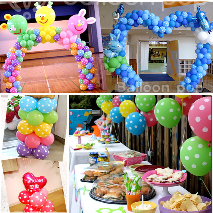 Buy party decoration 12 inch latex polka for Where can i find wedding decorations