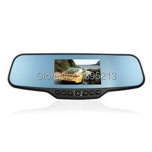 2014 New 4.3 inch Full HD1080P GPS Mirror Car camera Rearview Mirror car Monitor for Dual CarCam Mount Car Vehicle Camera