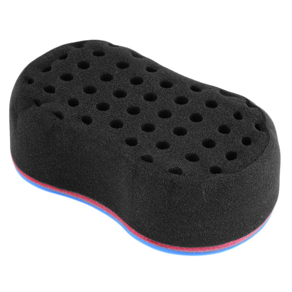 46 Holes Magic Hair Twist Sponge Dreads Twisting Locks Dreadlocks Curl Brush Sponge Barber Hair Brush Wave Design