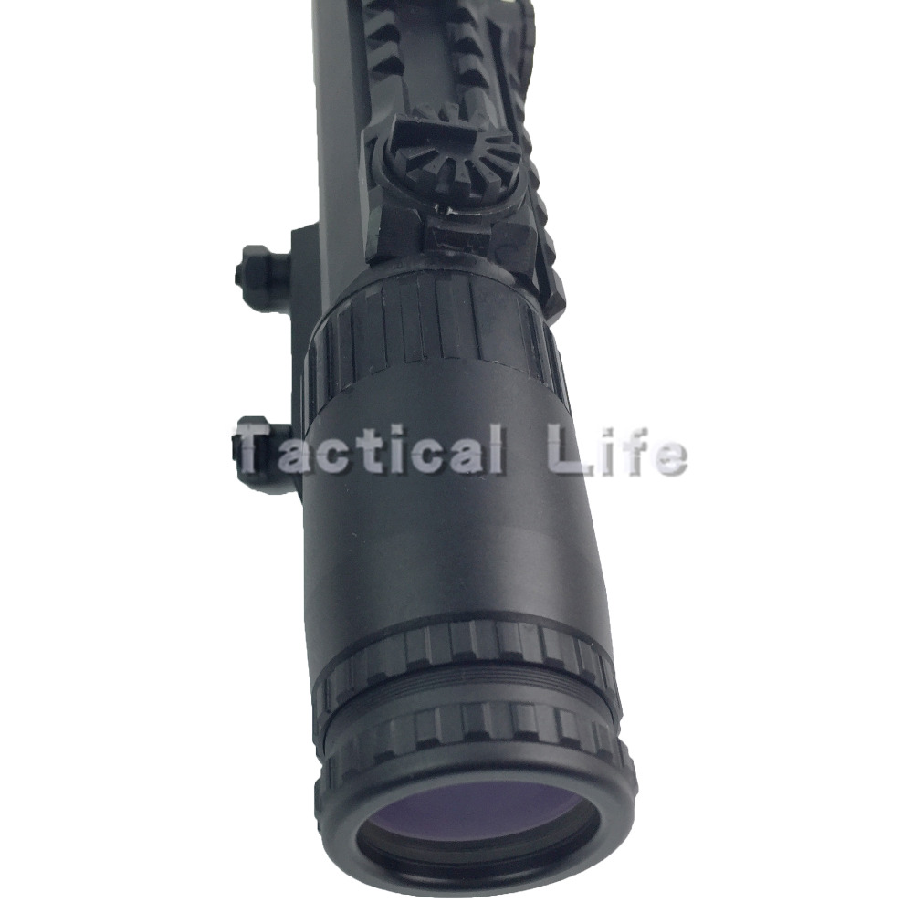 Outdoor Hunting 1 3X24 24MM Riflescope Illuminated Rangefinder Reticle Shotgun Air Hunting Scope With Lens Cover
