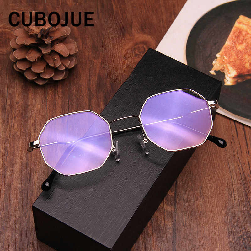 72c32332b3 ... Cubojue pequeño hexágono gafas marco mujeres hombres vintage gafas  marcos de prescripción para mujeres puntos de ...