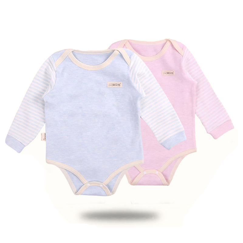 Baby Pajamas Newborn Boys Girls Long Sleeve Rompers Clothing Children 100% Natural Cotto ...