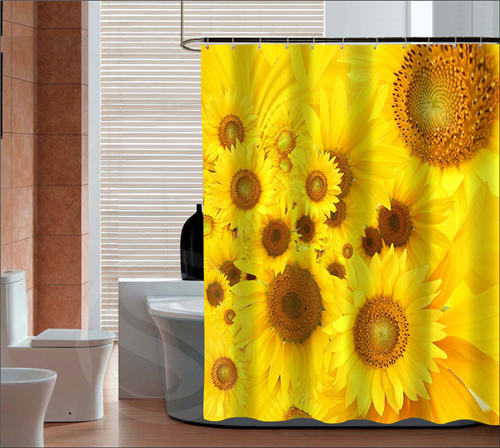 new arrive the beautiful sunflower custom shower curtain bath curtain waterproof more size sq