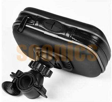 "Waterproof Motorcycle Bicycle Bike Mount Case Bag for 3.5"" 4.3"" Garmin TomTom Magellan GPS  Free Shipping & Drop Shipping"
