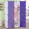 Simple wardrobe child clothing combination storage cabinet toy storage cabinet polka dot