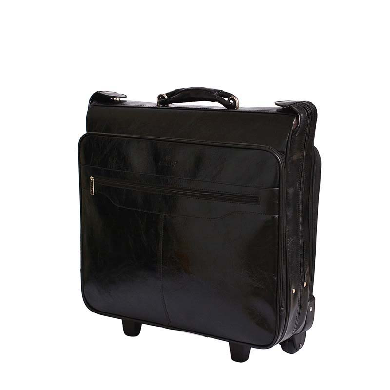 LeTrend Men Business PU Leather Rolling Luggage Spinner Retro Cabin Suitcase Wheels Trolley Password Travel Bags