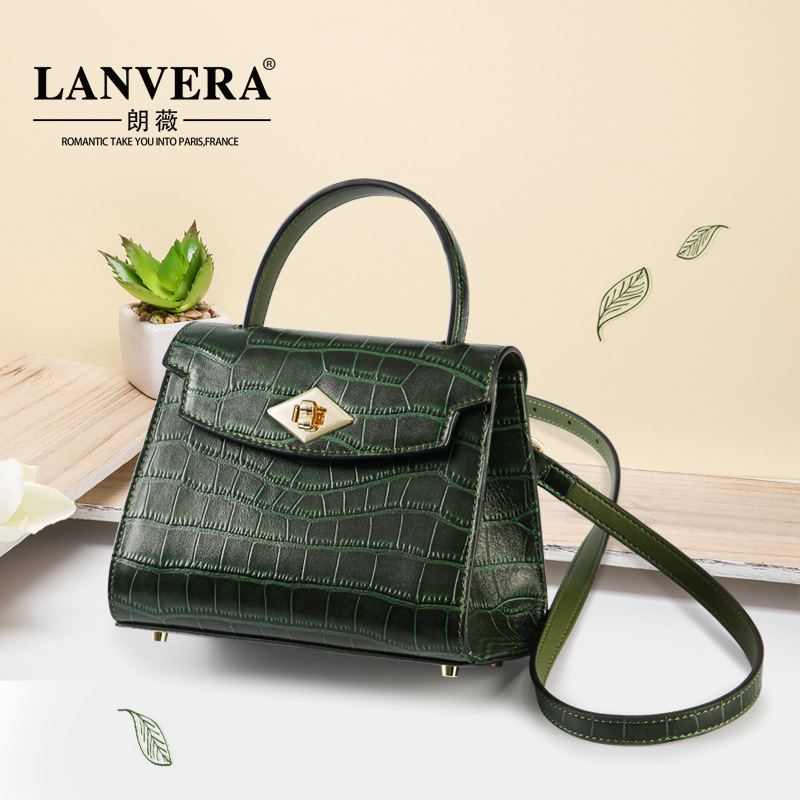 Luxury Women Handbags Crocodile Pattern Genuine Leather Messenger Bags New Vintage Female Shoulder Bag Women's Pouch Totes 2018 yuanyu 2016 new women crocodile bag women clutches leather bag female crocodile grain long hand bag
