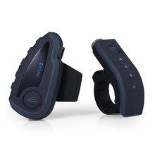 V8 Multi 6 Riders BT Interphone FM 1200M Motorcycle Helmet Bluetooth V3.0 Intercom Headsets Kits for Motorcyclist Skiers EU US