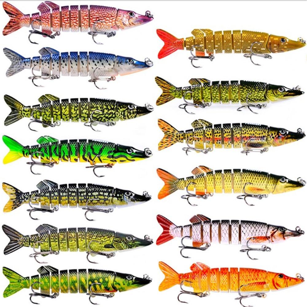 Metal Jointed Fishing Lure 12.5cm 18g 8 Sections Swimbait Hard Bait Crankbait WT