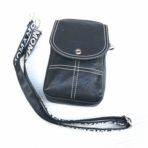 newest 60fc9 e81b4 Black Really leather Side Tool Bag Luggage Saddlebag Storage Cafe Racer  Bobber Motorcycle Universal цена