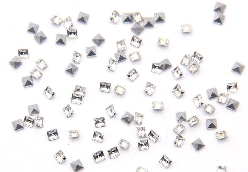 Señaló Unfoiled Vidrio Trasero Joyas Redondo Diamantes de Imitación de Decoración de Cristal Fiesta Nupcial