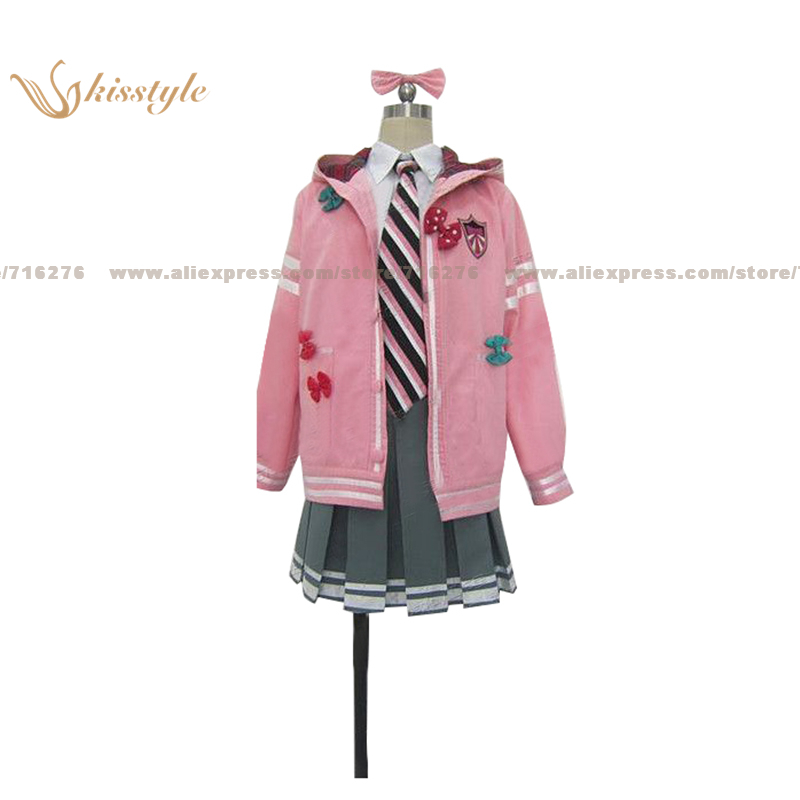 Kisstyle Fashion VOCALOID Hatsune Miku Project DIVA F School Uniform COS Clothing Cosplay Costume,Customized Accepted
