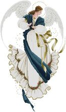 14/16/18/27/28 Top Quality beautiful lovely counted cross stitch kit angel of hope blue and white fairy angel de la Esperanza(China)