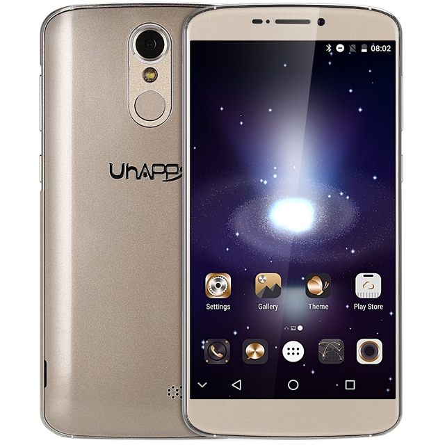 Uhappy UP350 4G Phablet Android 6.0 Smart Phone 5.5 inch MTK6737 Quad Core 1.3GHz 2GB RAM +16GB ROM Fingerprint Cell Phone