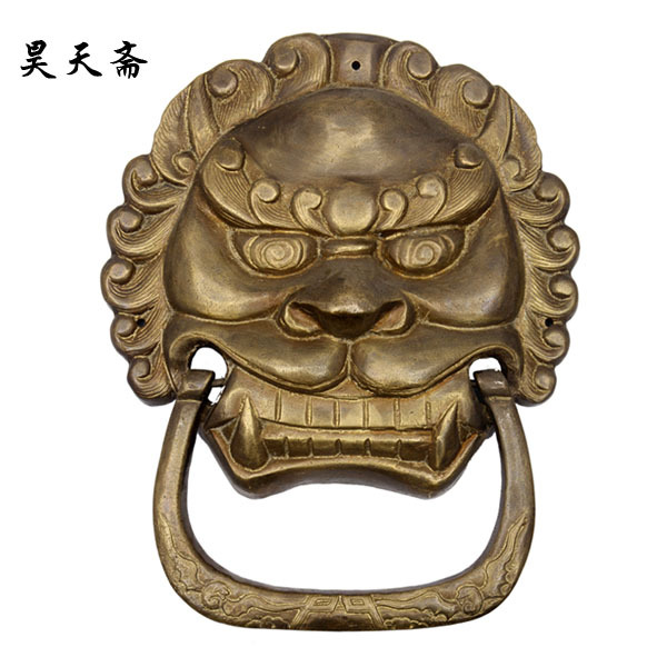 [Haotian vegetarian] antique copper beast handle / Antique Hardware / antique furniture copper fittings HTA-019 цена 2017
