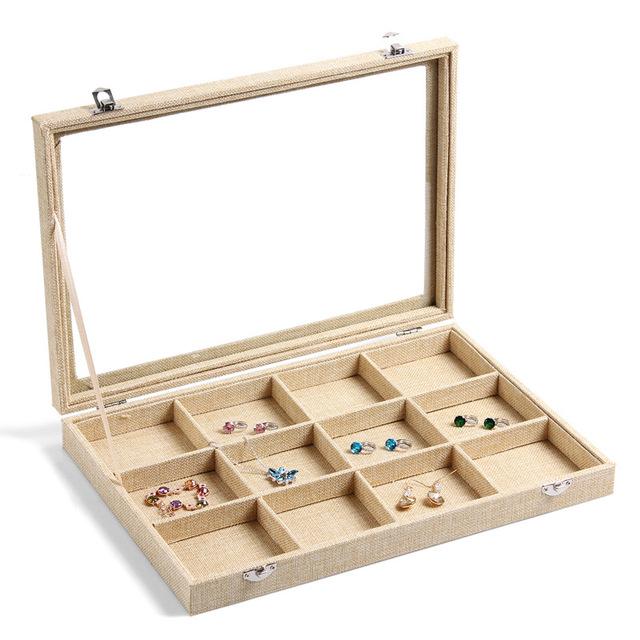 Compartimento Caixa de Armazenamento Caso Caixa de Jóias Bead Organizador de Maquiagem Clara para a Arte Do Prego Strass Gems