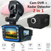 2in1 kamera wideo HD 720 P Auto detektor DVR kamera wideo wideorejestrator kamera na deskę rozdzielczą Radar Laser Radar prędkości dobrej jakości