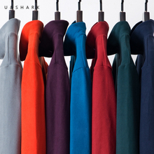 U&SHARK Spring Autumn Mens Warm Fleece Sweaters Male Turtleneck Pullovers Man Solid Color Casual Knitwear Sweater High Quality