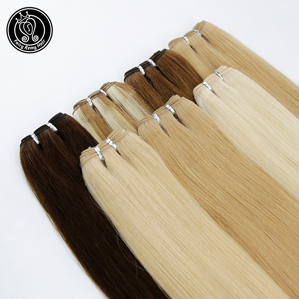 Human Hair Weft Extensions Double Drawn Natural European Real Remy Straight Bundles Weave Highlight Piano Color 20 Inch 100g/pcs