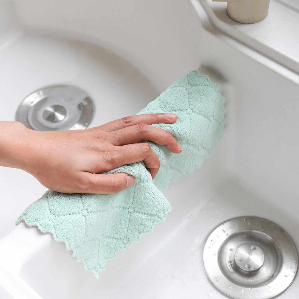 Dropshipping Antihaft Öl Korallen Samt Hängen Hand Handtücher Küche Reinigung Waschen Tuch Handtuch Dishclout Abwischen Lappen Gericht Handtuch