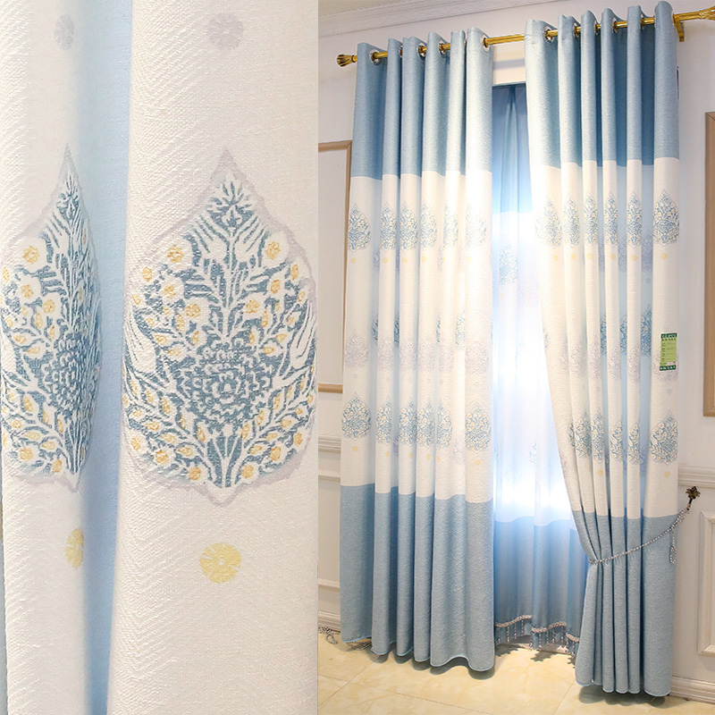 Curtains for Bedroom,pink/blue color high quality linen composite fabric,2 pieces/lot,Free Shipping!Curtain Tulle.