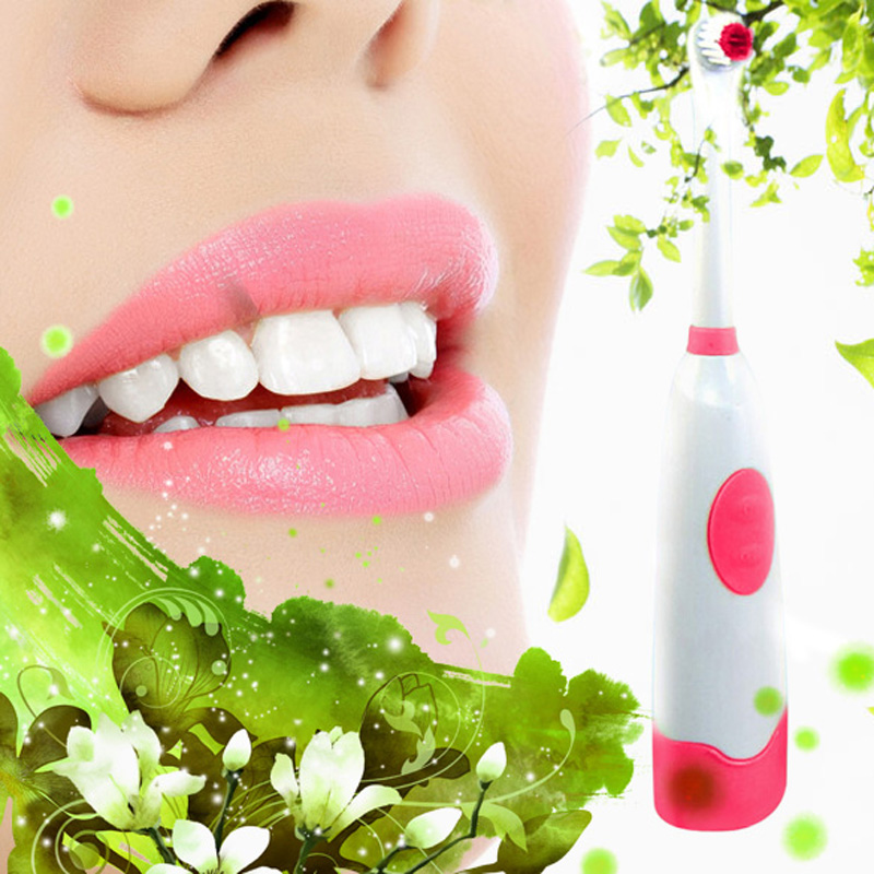 New Rotating Anti Slip Waterproof Electric Toothbrush with 2 High-grade fiber Brush Heads Red powered by 2 x AA battery touchbeauty 3 in1 rotating facial cleansing brush set with 3 replacement brush heads 2 speed settings with storage box tb 0759a