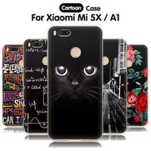 Купить с кэшбэком EiiMoo Phone Case For Xiaomi Mi 5X Xiaomi Mi A1 Case Silicone Soft Cute Cartoon Back Cover For Xiaomi Mi 5X Mi5X Case Mia1 Cover
