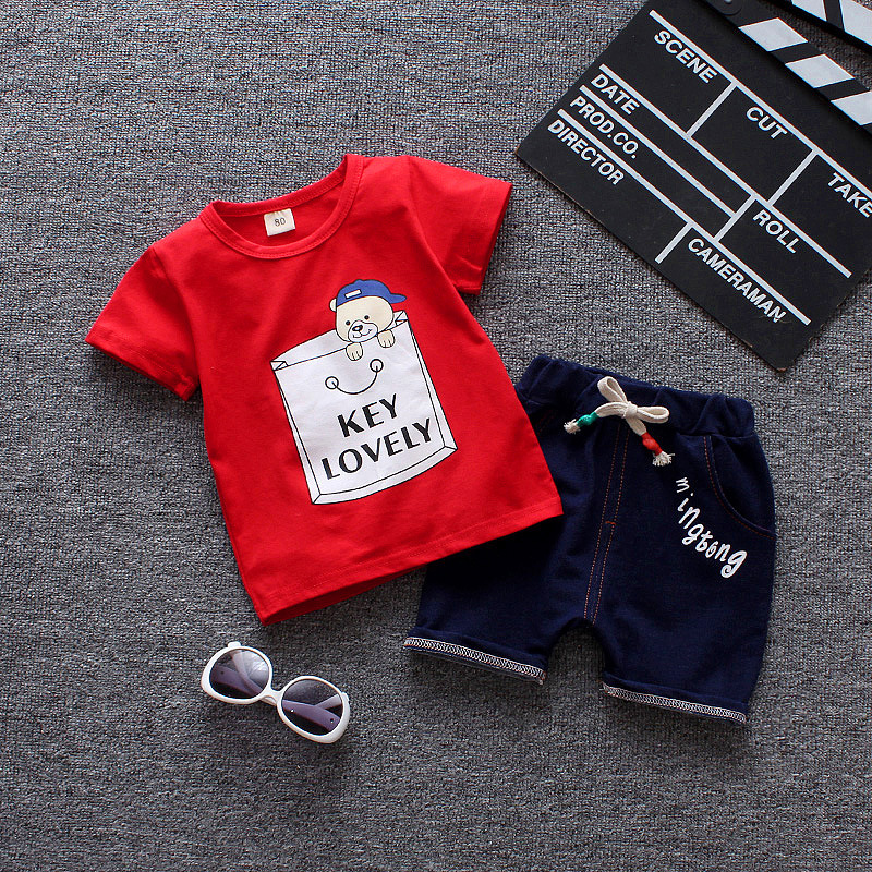 2018 Infant Baby Boys Girls Letter T-Shirt Tops Striped Pants 2 Pcs Set Outfits new born baby clothes spring ropa mujer