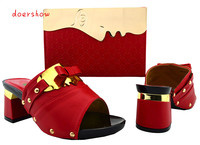 doershow Italian Shoes with Matching bags For party african Shoes And Bags to match set top class matching shoe and bag WVL1 21