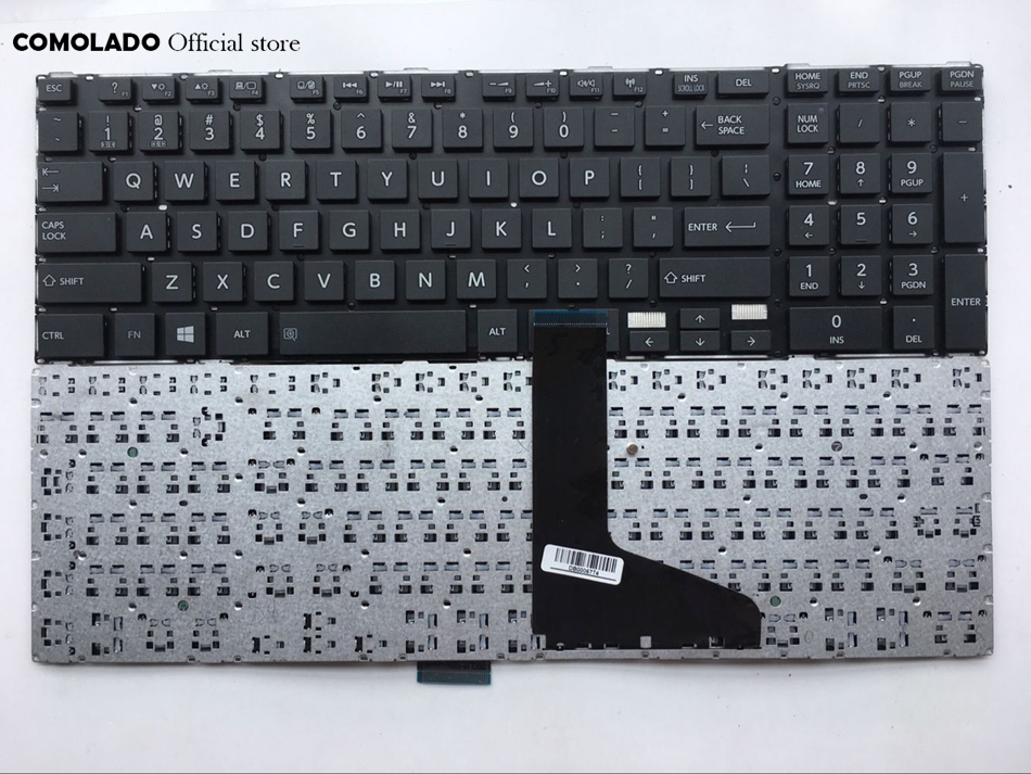 US English Keyboard For TOSHIBA satellite L850 L855 C850 C855D C850D C855 C870 C870D C875 C875D L875 L875D black keyboard image