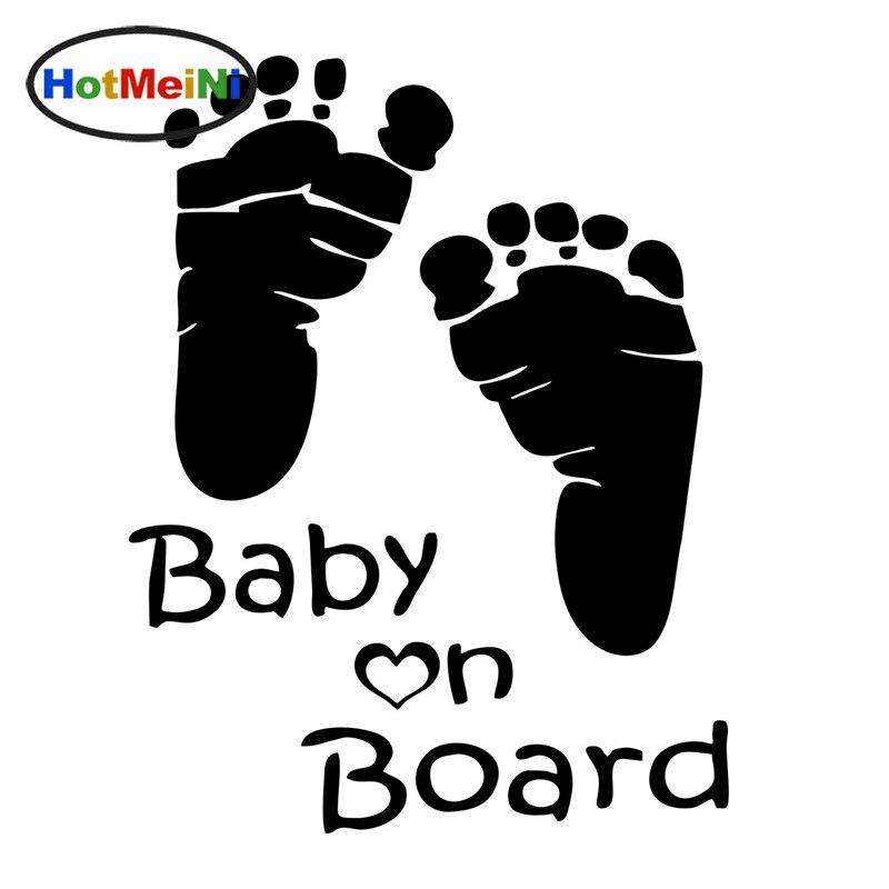 HotMeiNi 15*12cm Funny Feet Baby On Board JDM Vinyl Car
